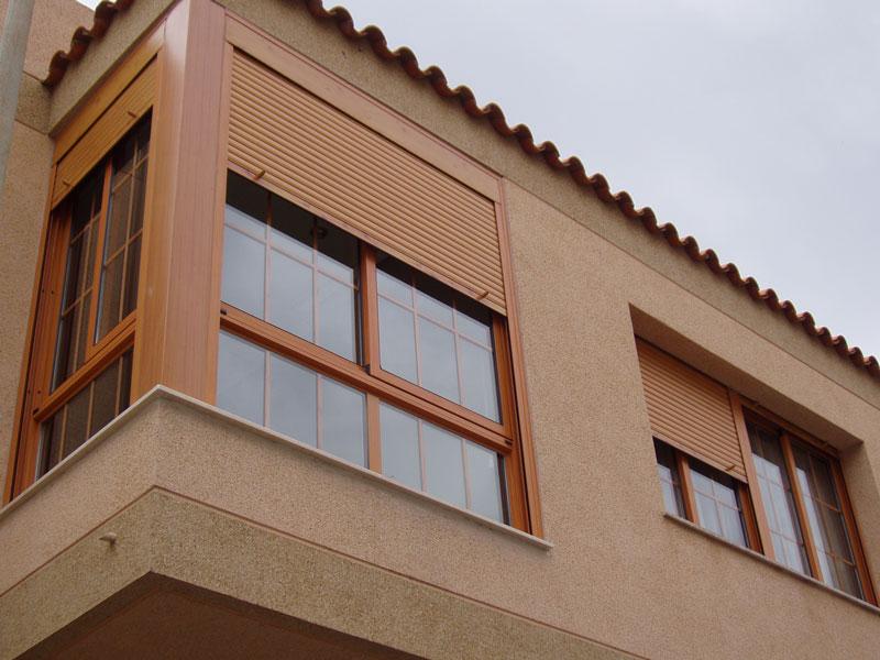 ventana corredera y persianas